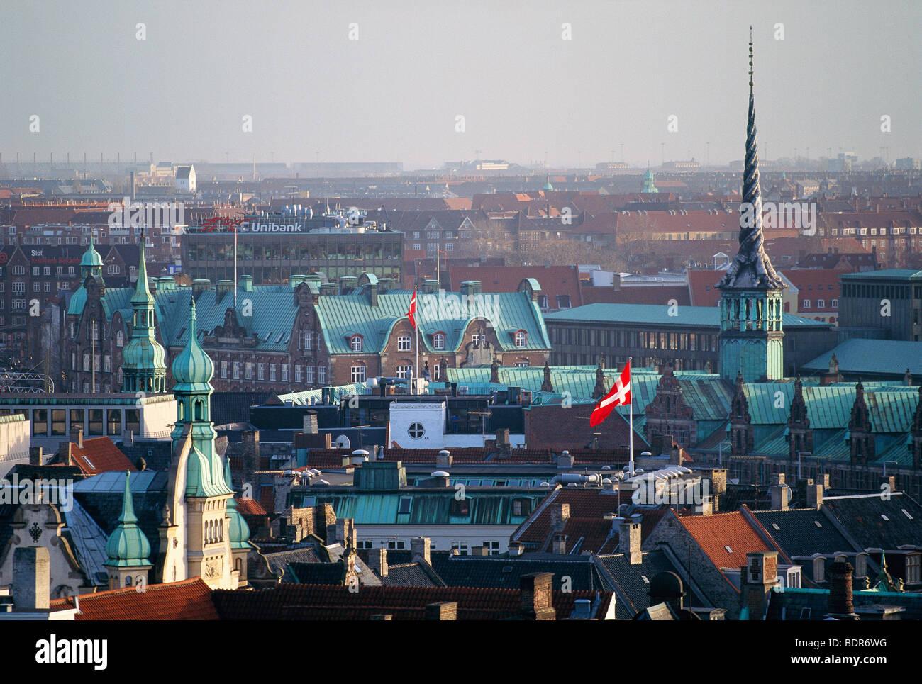 View from Copenhagen, Denmark. - Stock Image
