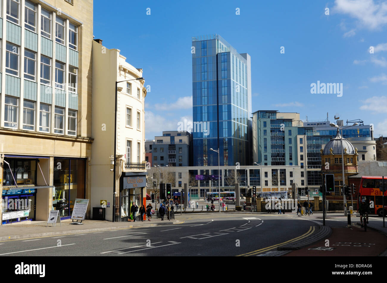 The new Radisson Blu hotel in Bristol City Centre, St Augustine's Parade, England, United Kingdom. - Stock Image