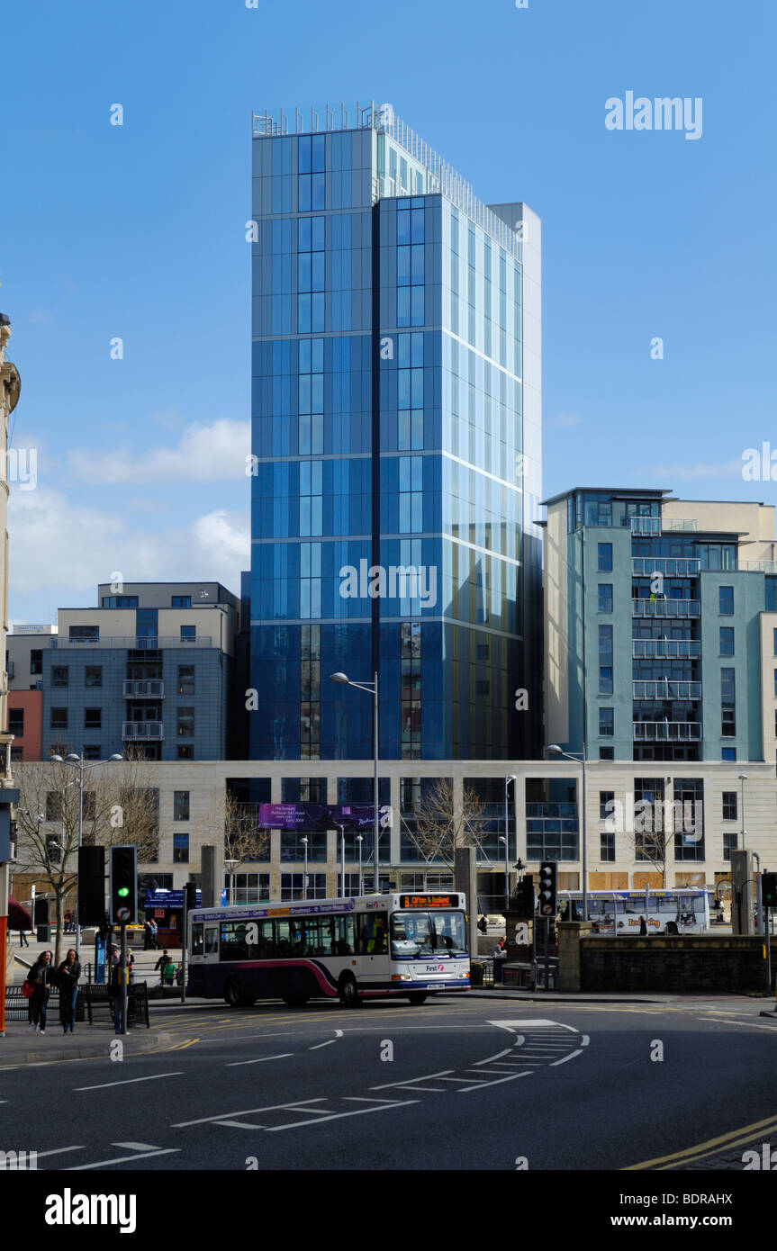 The new Radisson Blu hotel in Bristol City Centre, St Augustine's Parade, England. Due to open 2009. Formerly - Stock Image