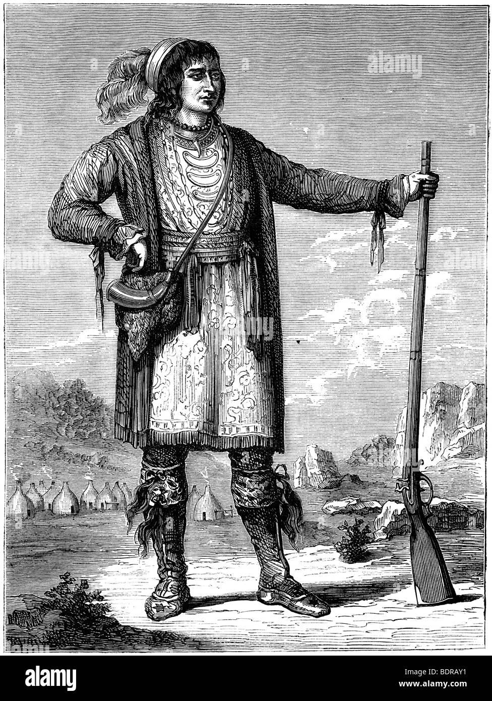 Osceola, Chief of the Seminoles, c1837 (c1880). Artist: Unknown - Stock Image