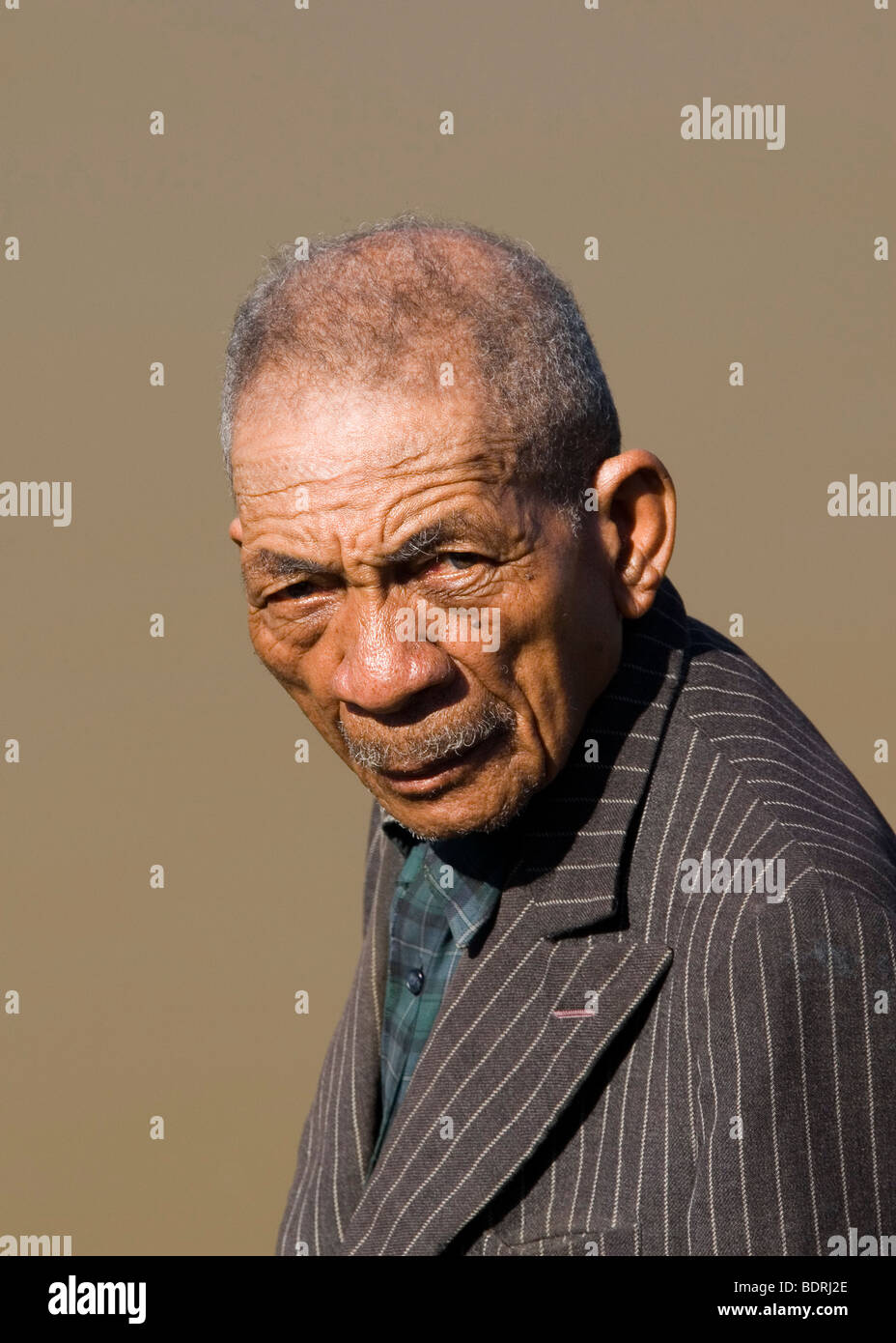 Portraet, Alter Madagasse, Madagaskar, Afrika, old man, Madagascar, Africa - Stock Image