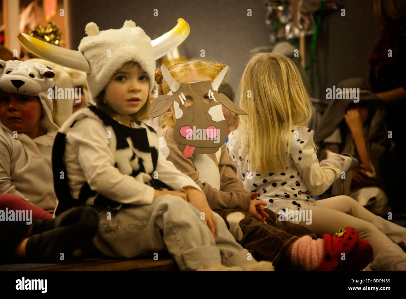 primary school nativity play - Stock Image