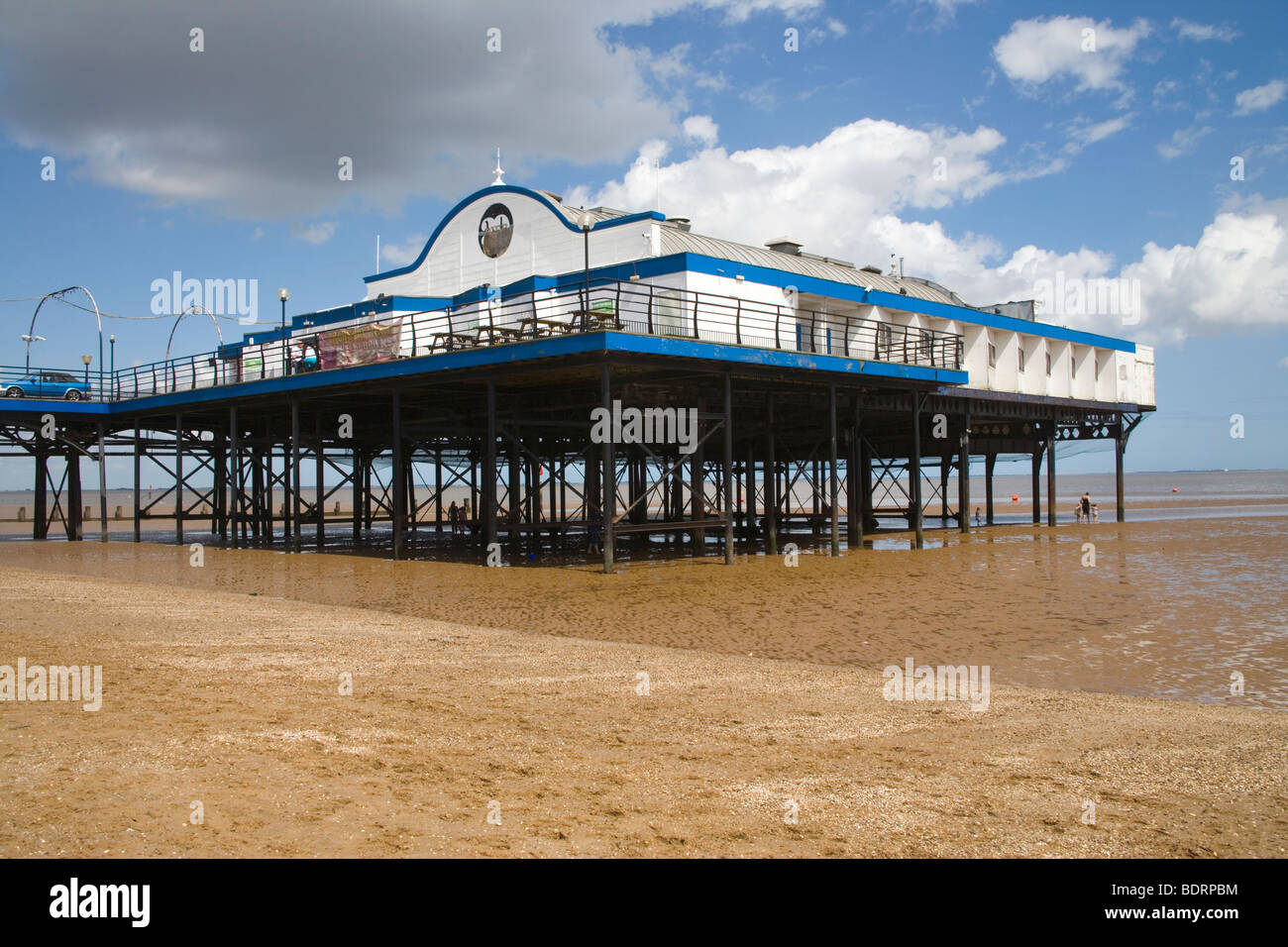 Cleethorpes pier on the Lincolnshire coast - Stock Image