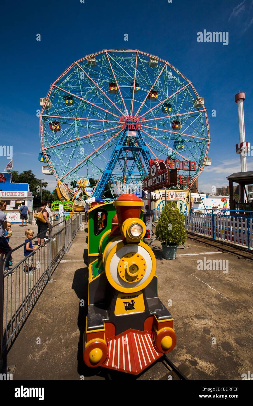 Deno's Amusement Park, Coney Island, Brooklyn, New York, United States of America - Stock Image