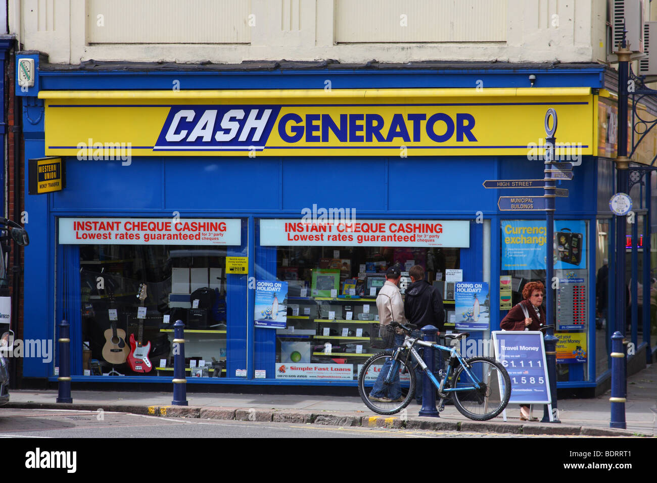 A Cash Generator store in a U K  town Stock Photo: 25724497 - Alamy