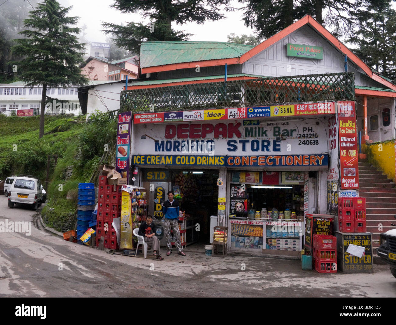 Refreshment and confectionery shop / store for passing tourists, in Dalhousie. Dalhousie. Himachal Pradesh. India. - Stock Image