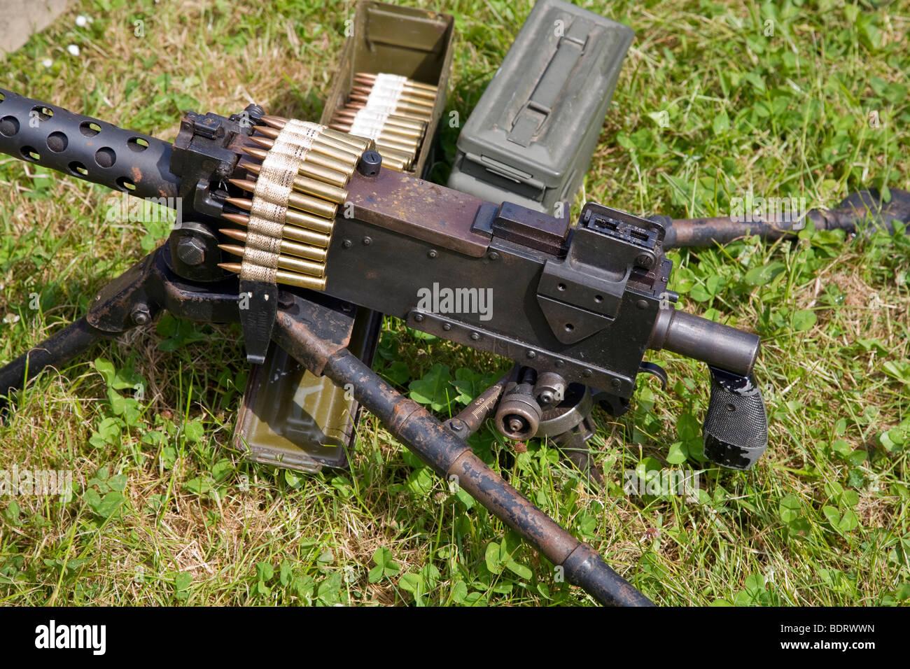 Browning 30 cal heavy machine gun - Stock Image