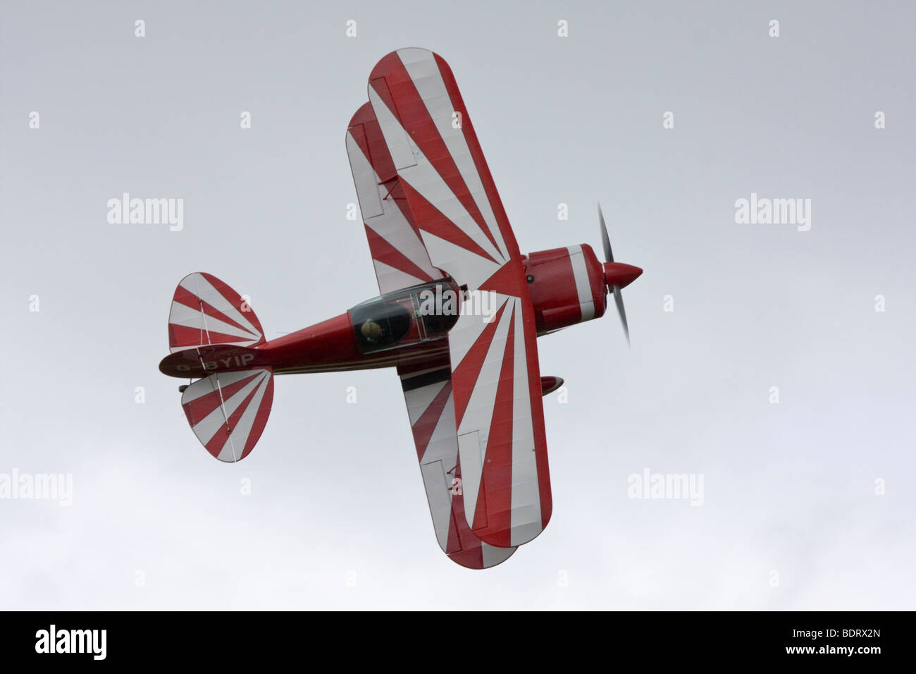 Pitts S-2A Special two seat aerobatic biplane - Stock Image