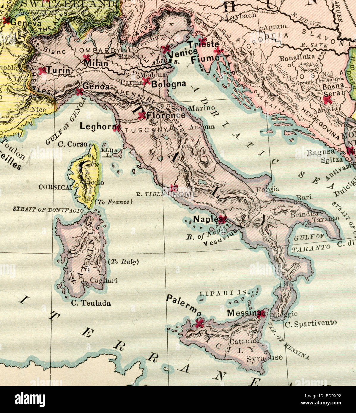 Images Of Map Of Italy.Italy Map Stock Photos Italy Map Stock Images Alamy