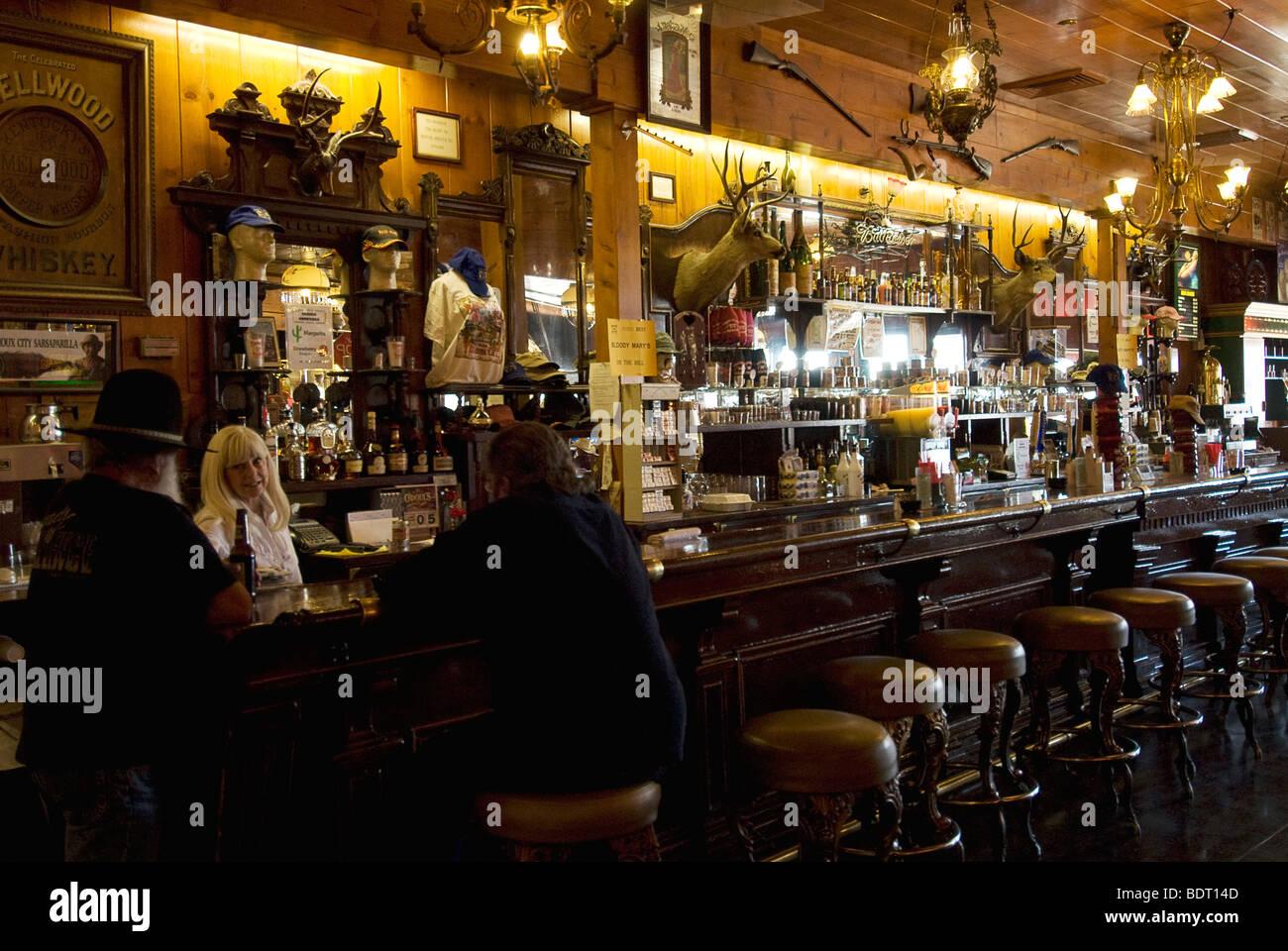 Delta Saloon on C St., Virginia City, Nevada - Stock Image