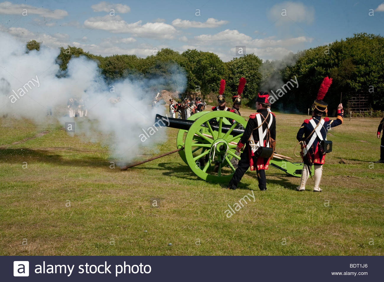 french canon fire - Stock Image