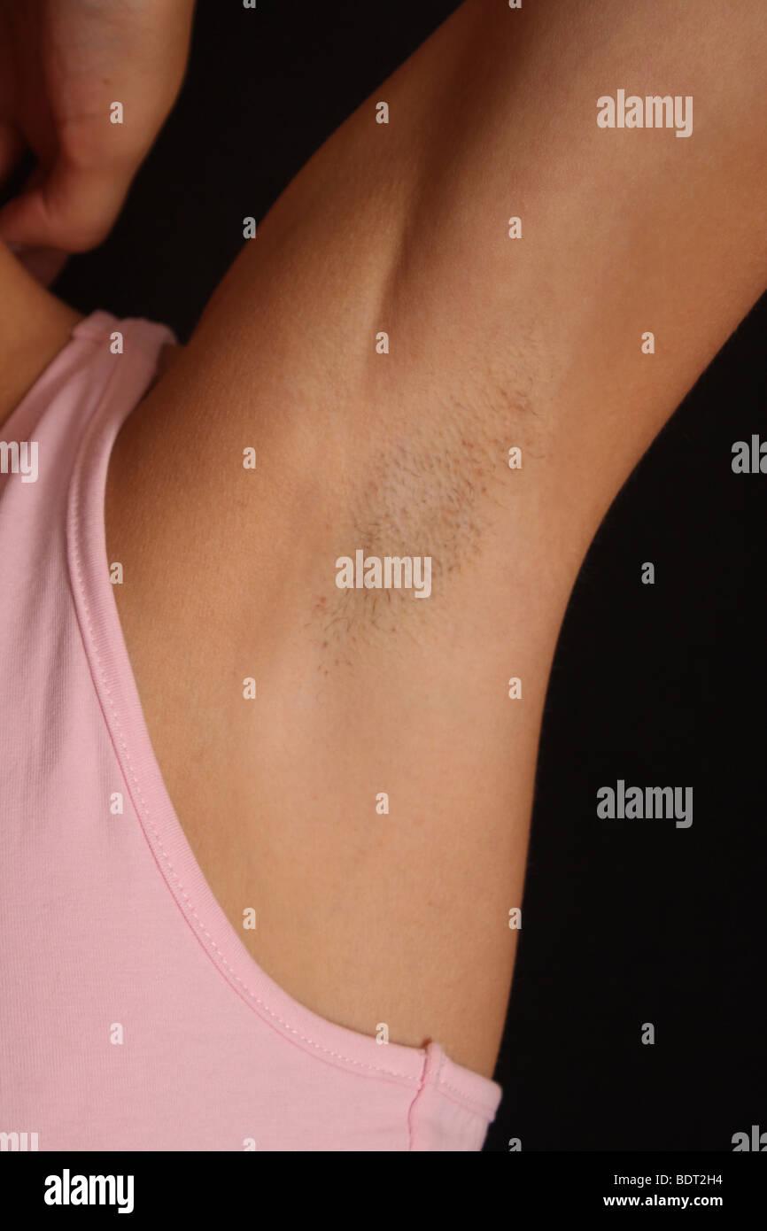 a womans armpit - Stock Image