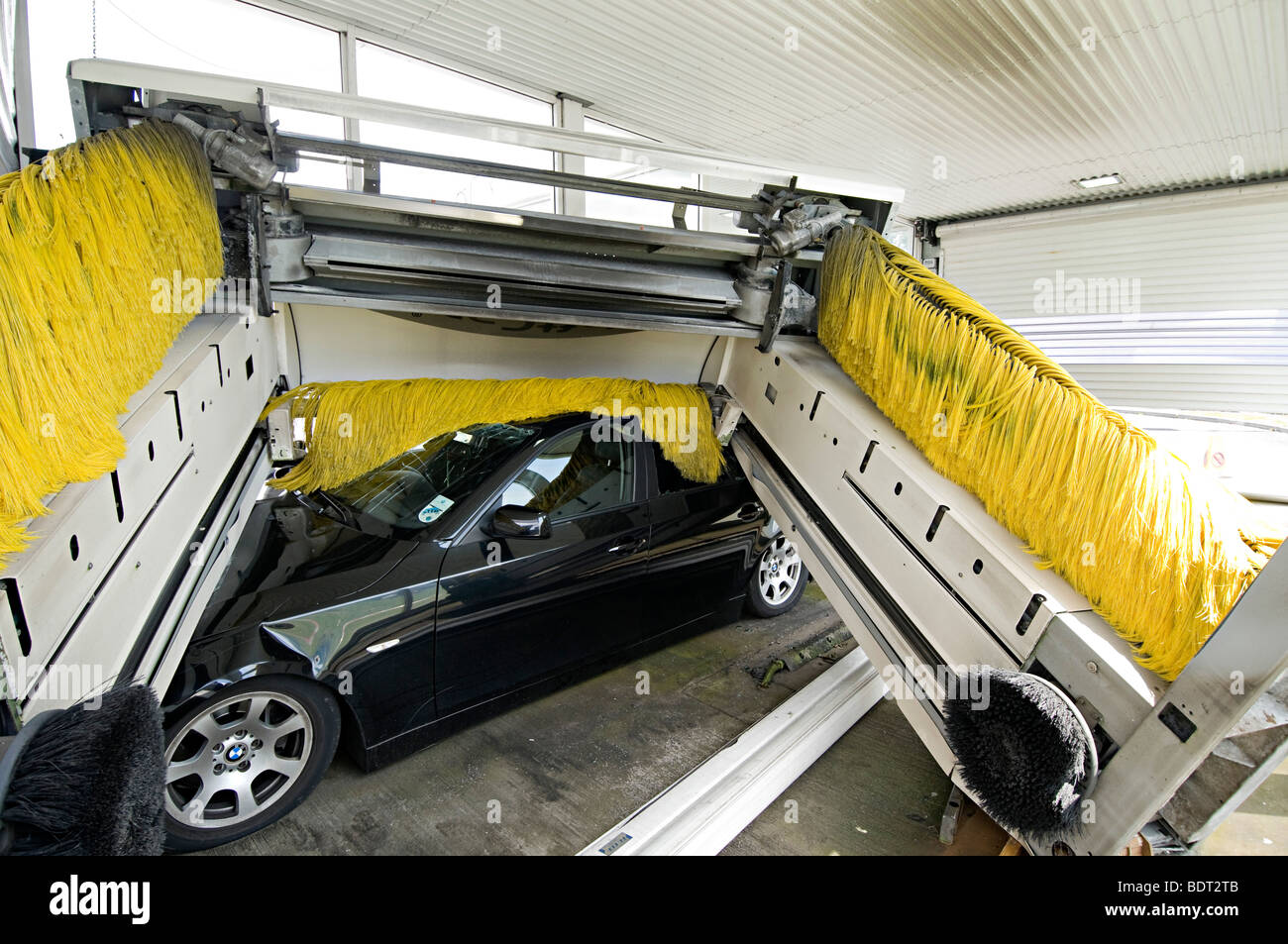 Car Wash Brush >> a bmw 3 series crushed in a car wash accident after driver lost Stock Photo: 25729995 - Alamy