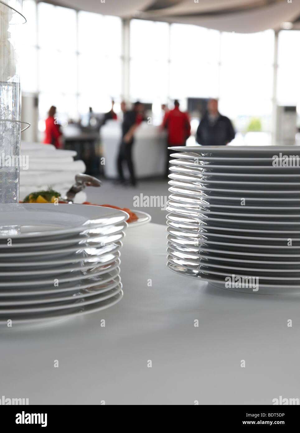 plate stacks - Stock Image
