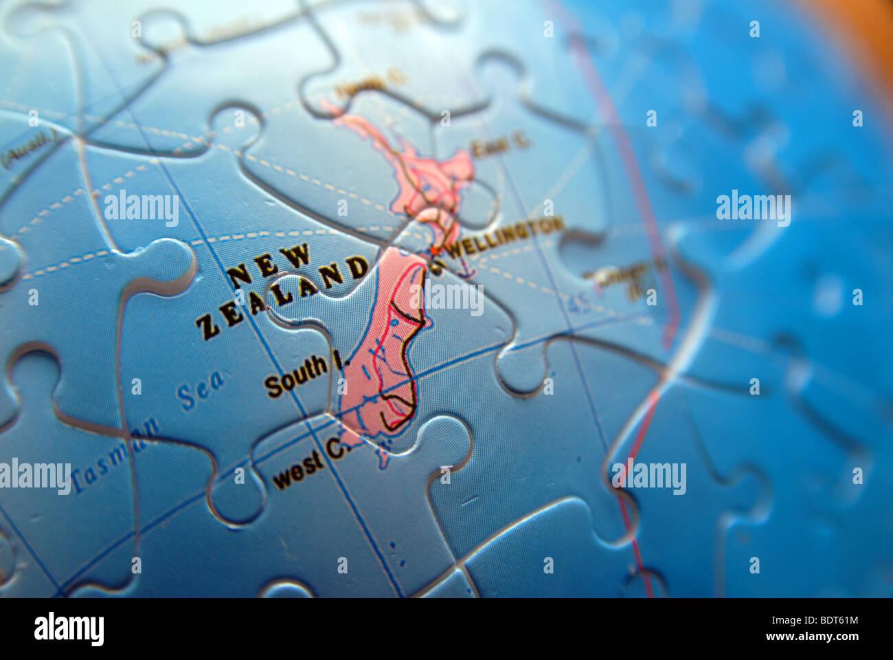 Detail of a globemap jigsaw detail new zealand stock photo detail of a globemap jigsaw detail new zealand gumiabroncs Image collections
