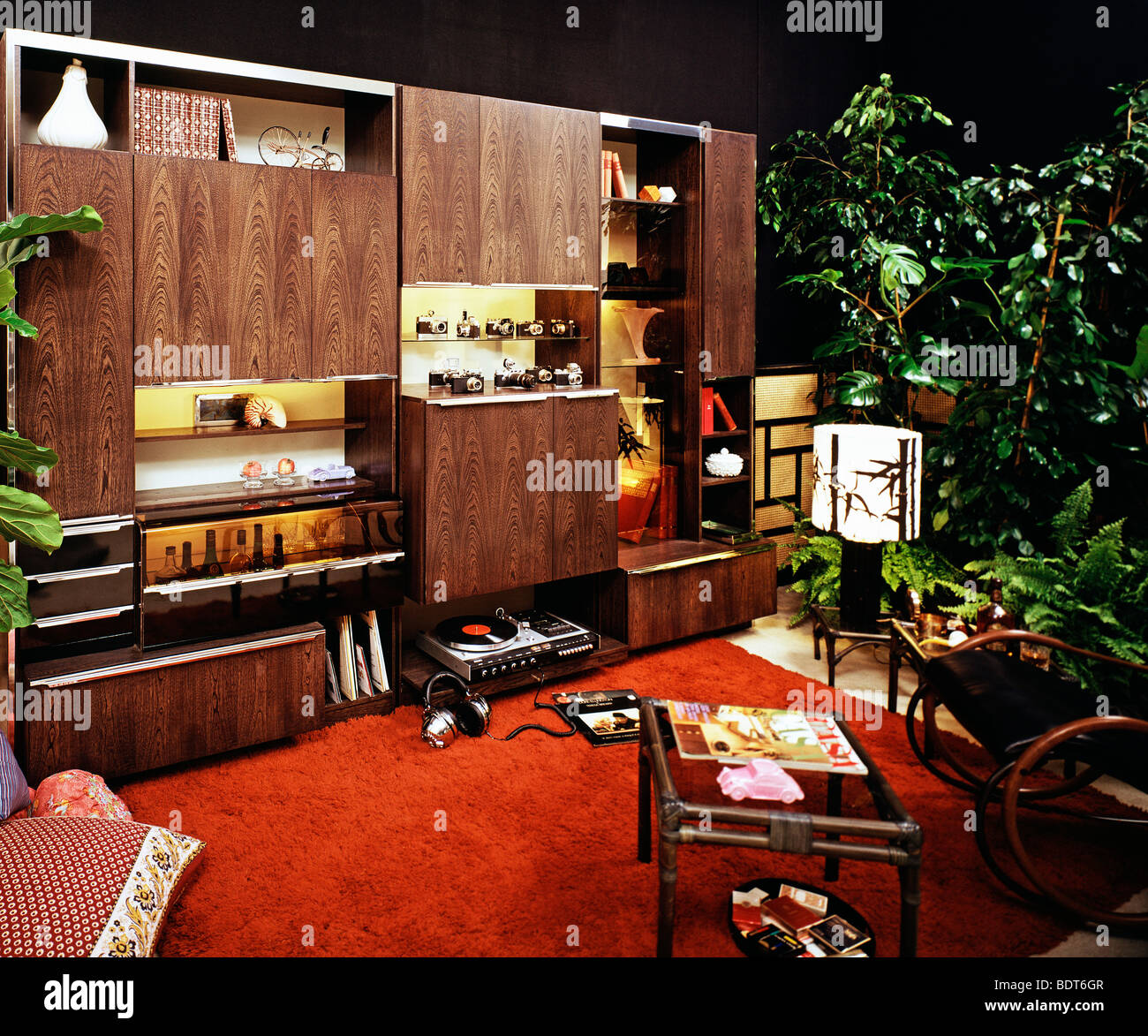 1970s living room high resolution stock photography and