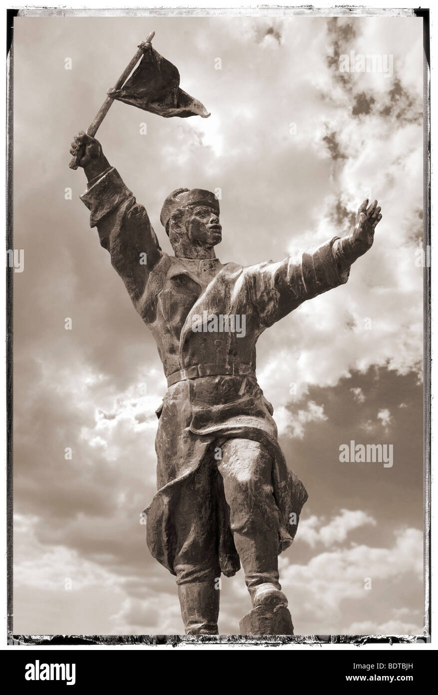 Osztyapenko Statue in the Memento Sculpture Park - Communist Sculptures museum - Budapest - Hungary - Stock Image