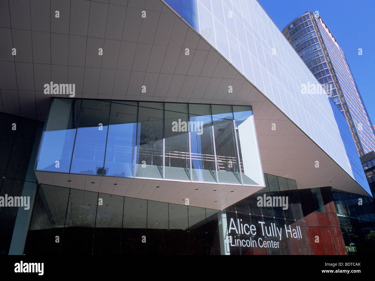 New York City Alice Tully Hall Lincoln Center for the Performing Arts USA - Stock Image
