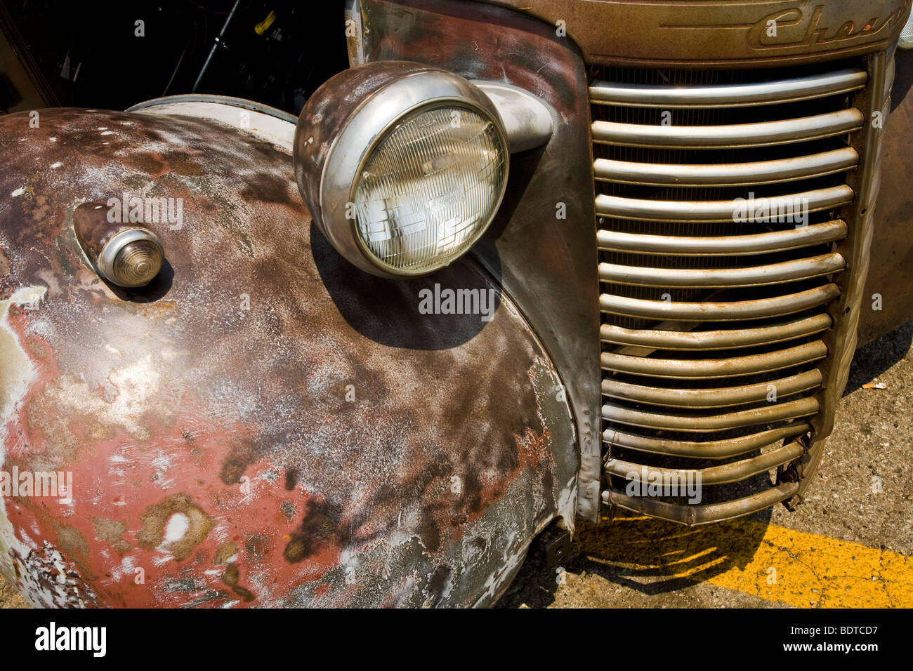 Old car, Pomona Swap Meet for the antique auto enthusiast - Stock Image