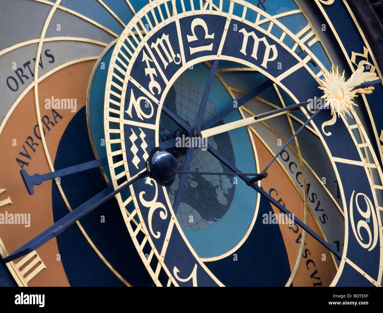 Astronomical Clock on Old Town Square in Prague, Czech Republic. - Stock Image