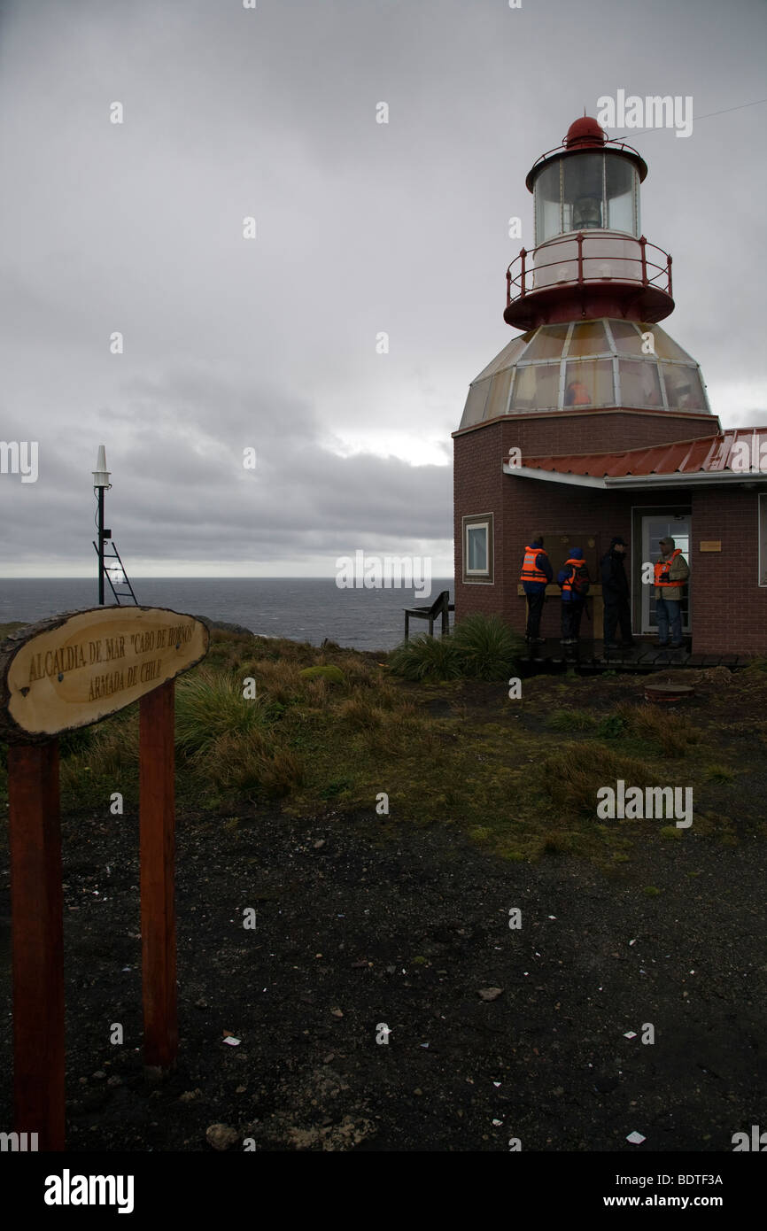 Cape Horn lighthouse, Chile - Stock Image