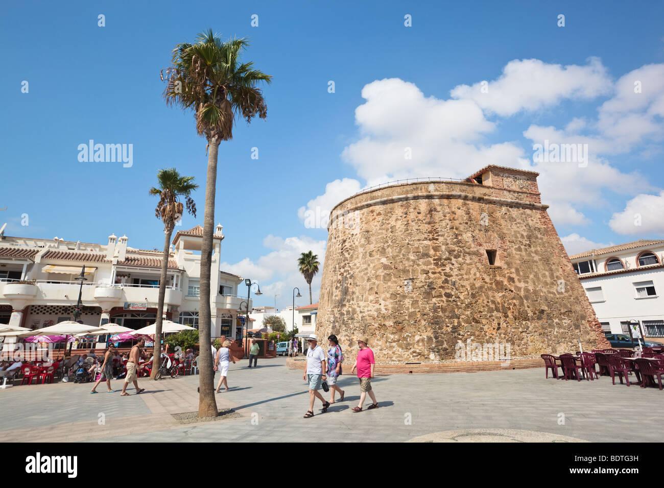 The torreon or watchtower at la cala de mijas costa del - Costa muebles mijas ...