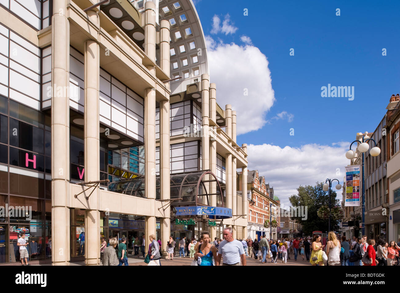 People shopping Kingston upon Thames, Surrey, United Kingdom - Stock Image
