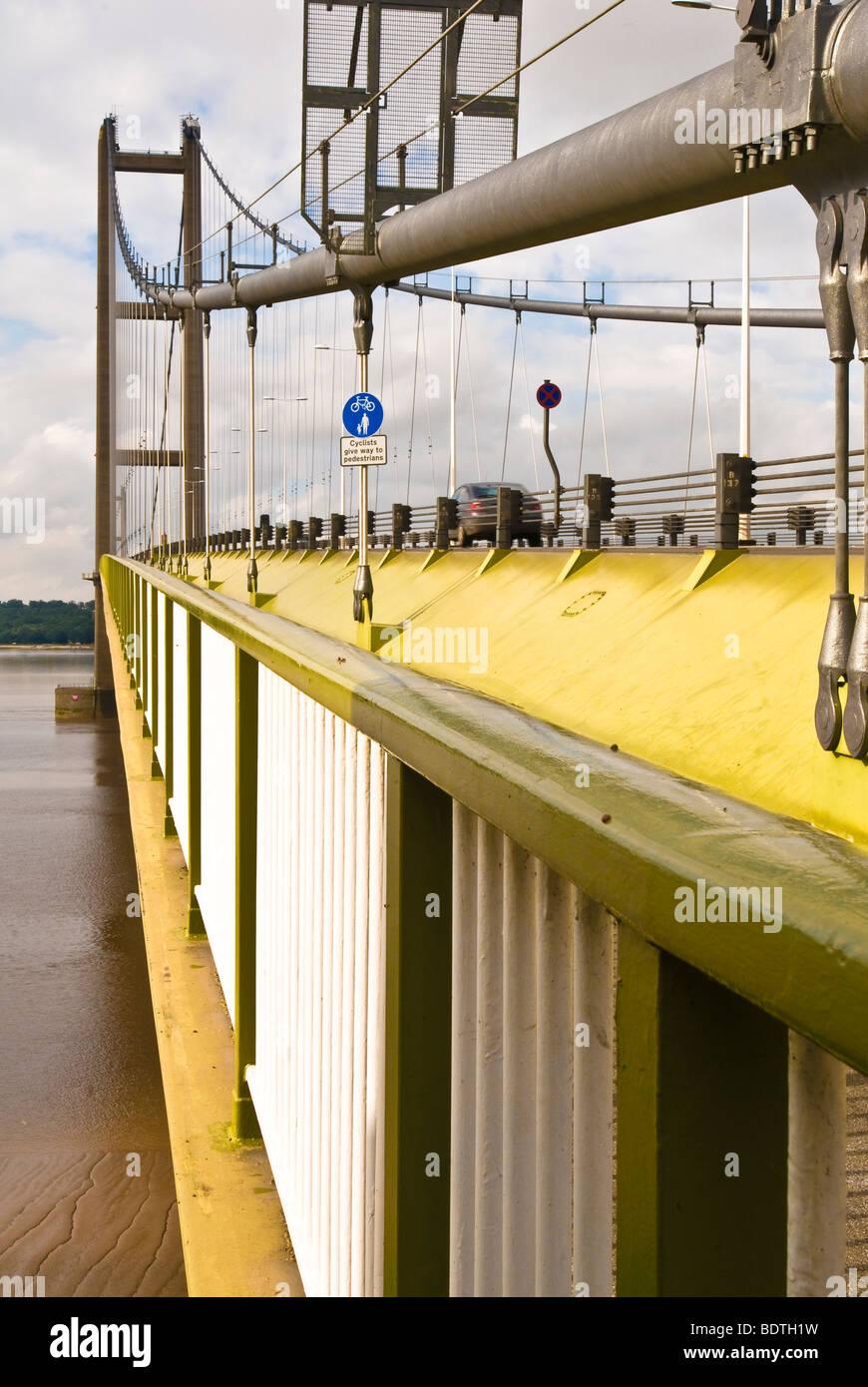 The Humber Bridge, North Lincolnshire - Stock Image