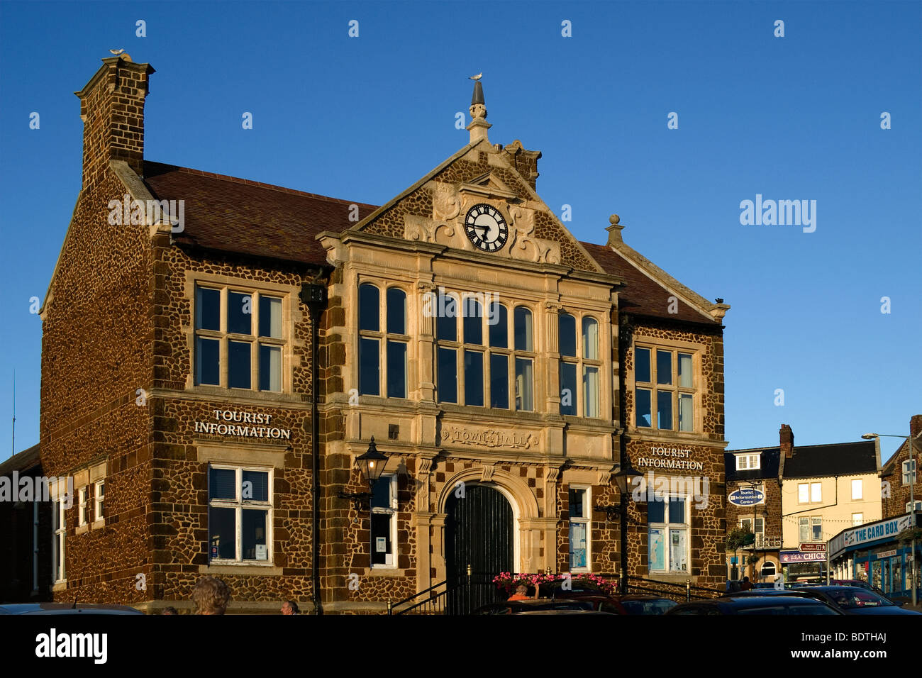 Handsome former Town Hall at Hunstanton Norfolk now a Tourist Information Office - Stock Image