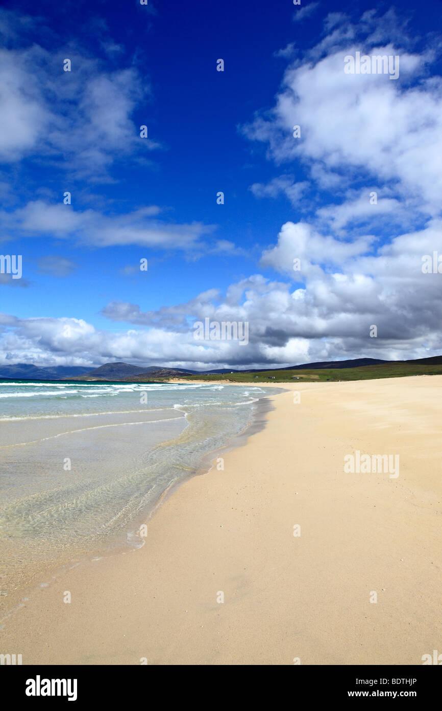 Beautiful beach at Scarista, Isle of Harris, Outer Hebrides, Scotland - Stock Image