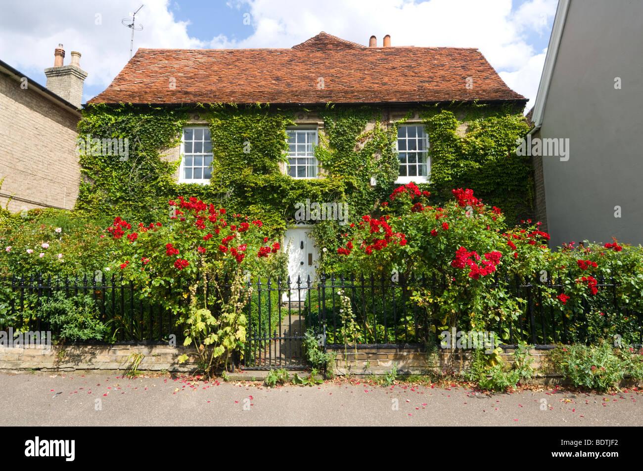 Cottage Cavendish Suffolk UK - Stock Image