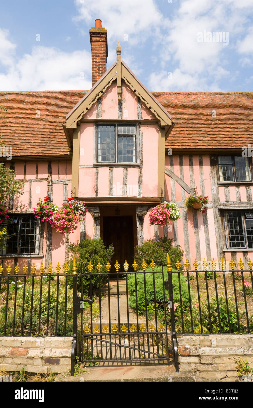 Nether Hall Cottage Cavendish Suffolk UK - Stock Image