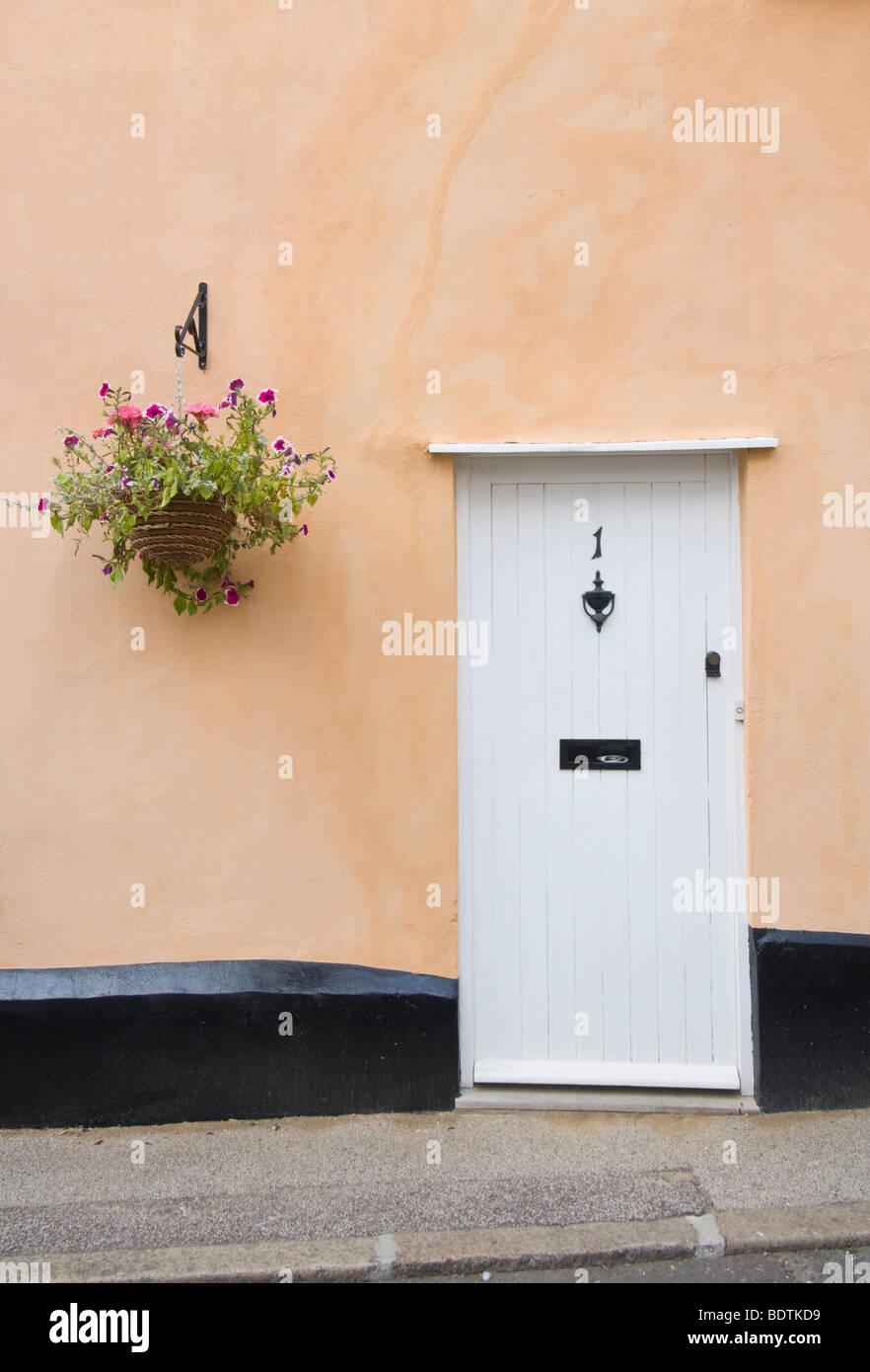 Cottage Door Lavenham Suffolk UK - Stock Image