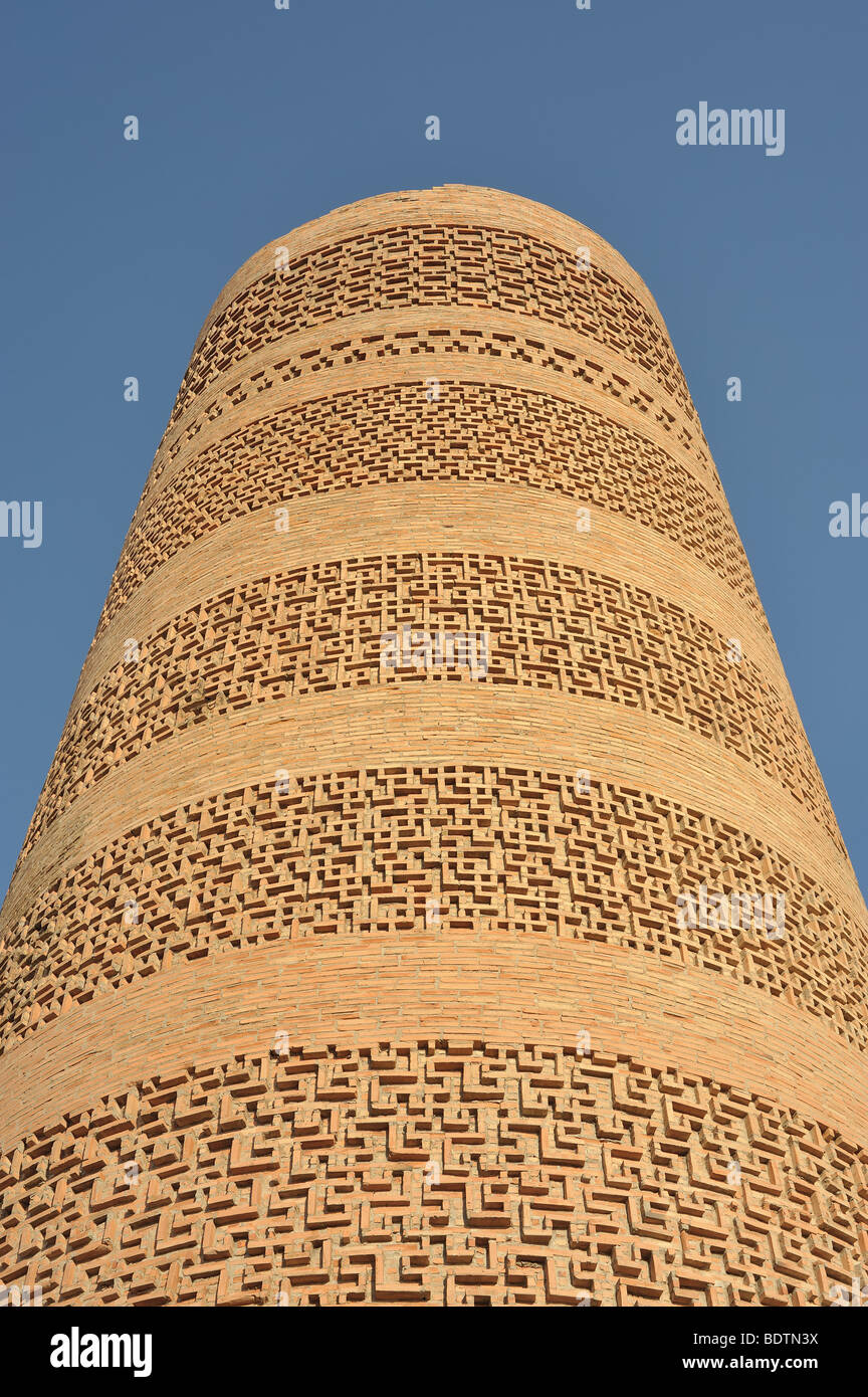 Decoration of Burana Tower in Kyrgyzstan. Islamic minaret of mosque. aprox. 11 century. Karakhanid period. - Stock Image