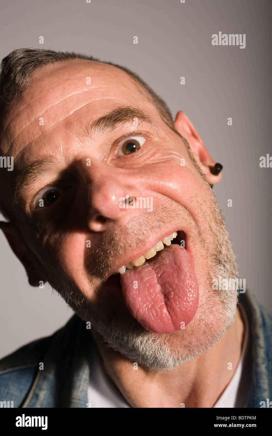 Picture of someone sticking their tongue out