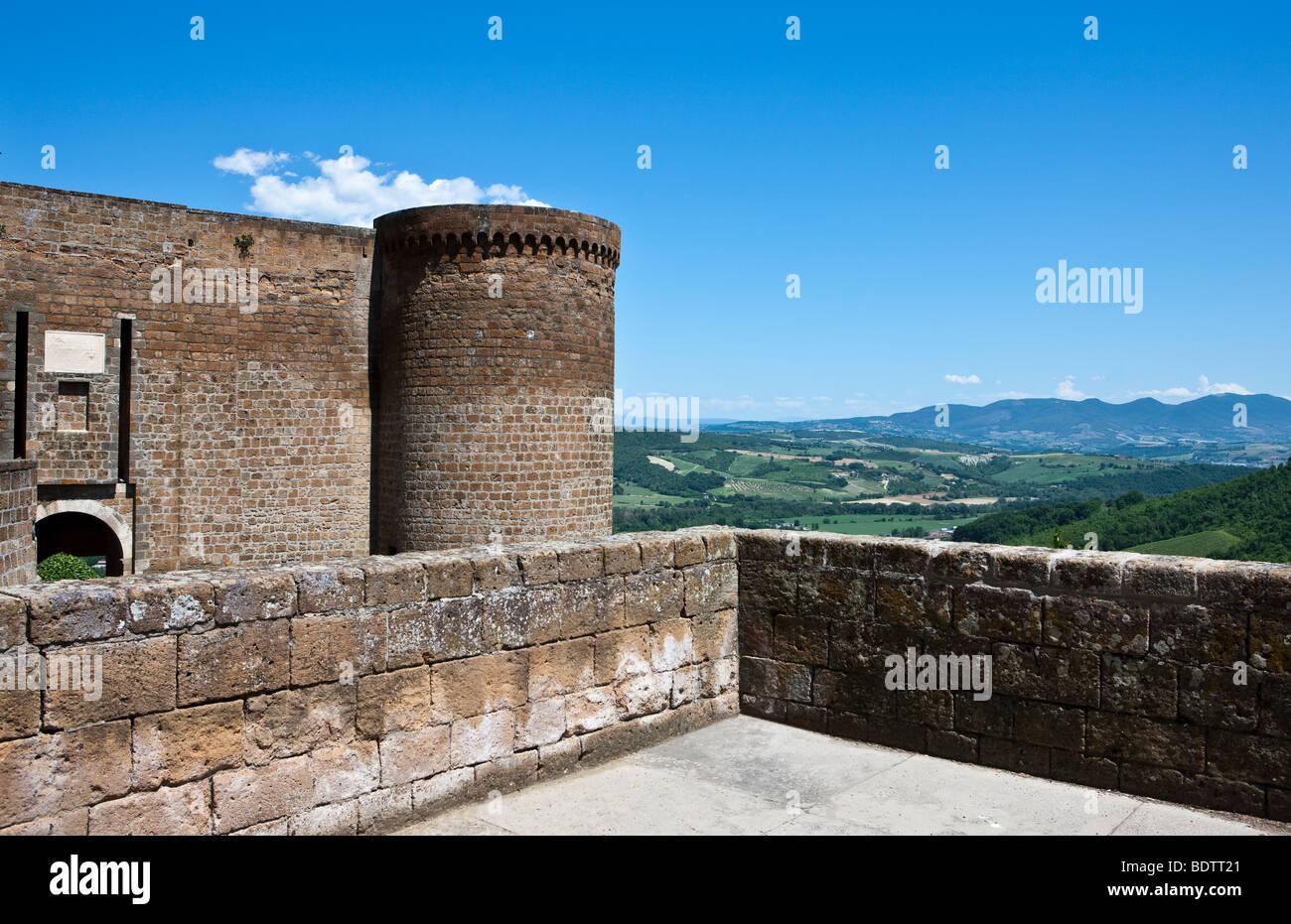 Italy,Umbria,Orvieto,the Albornoz fortress Stock Photo