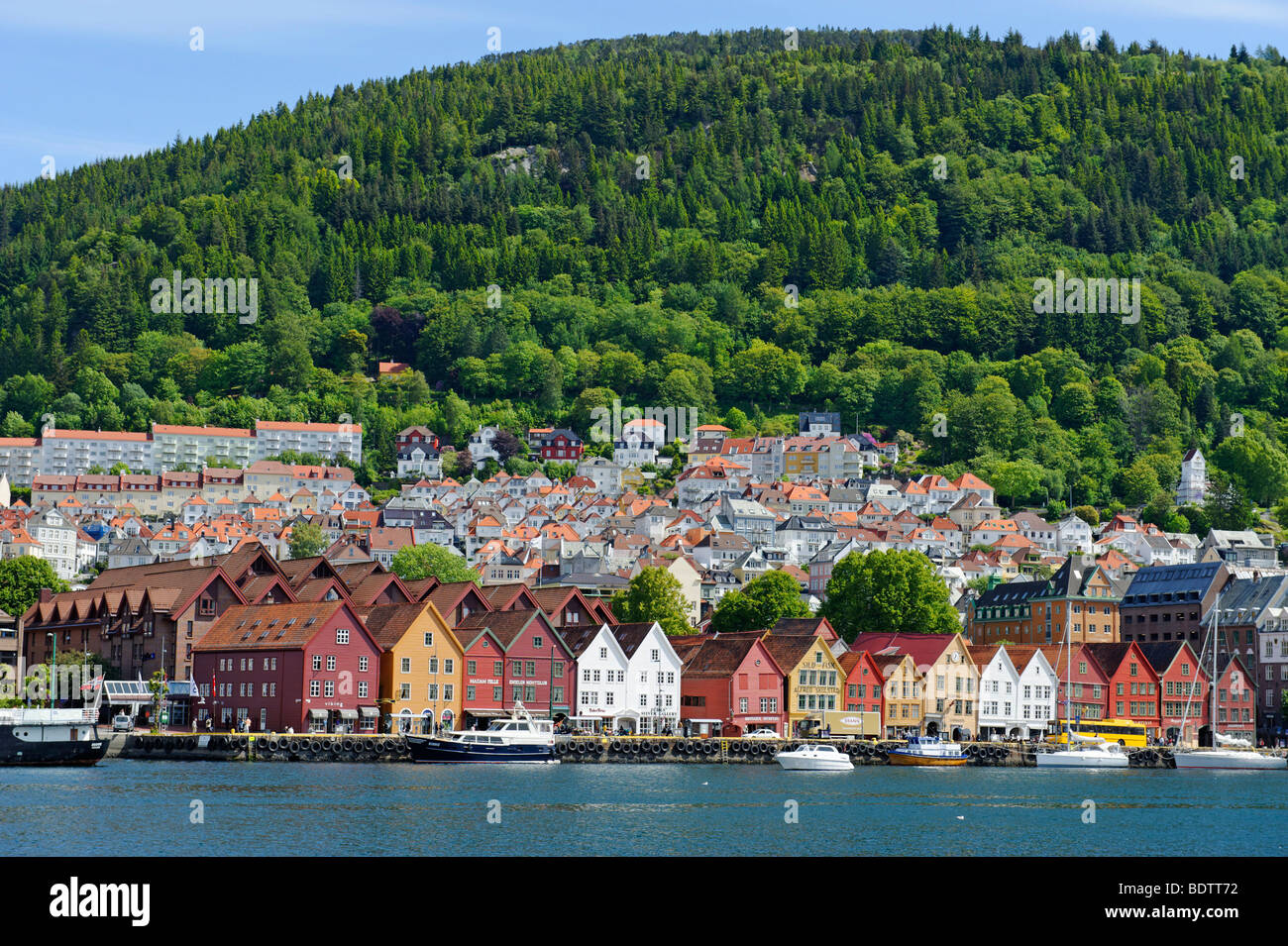 Hanseatic quarter, Bryggen, Bergen, Norway, Europe - Stock Image