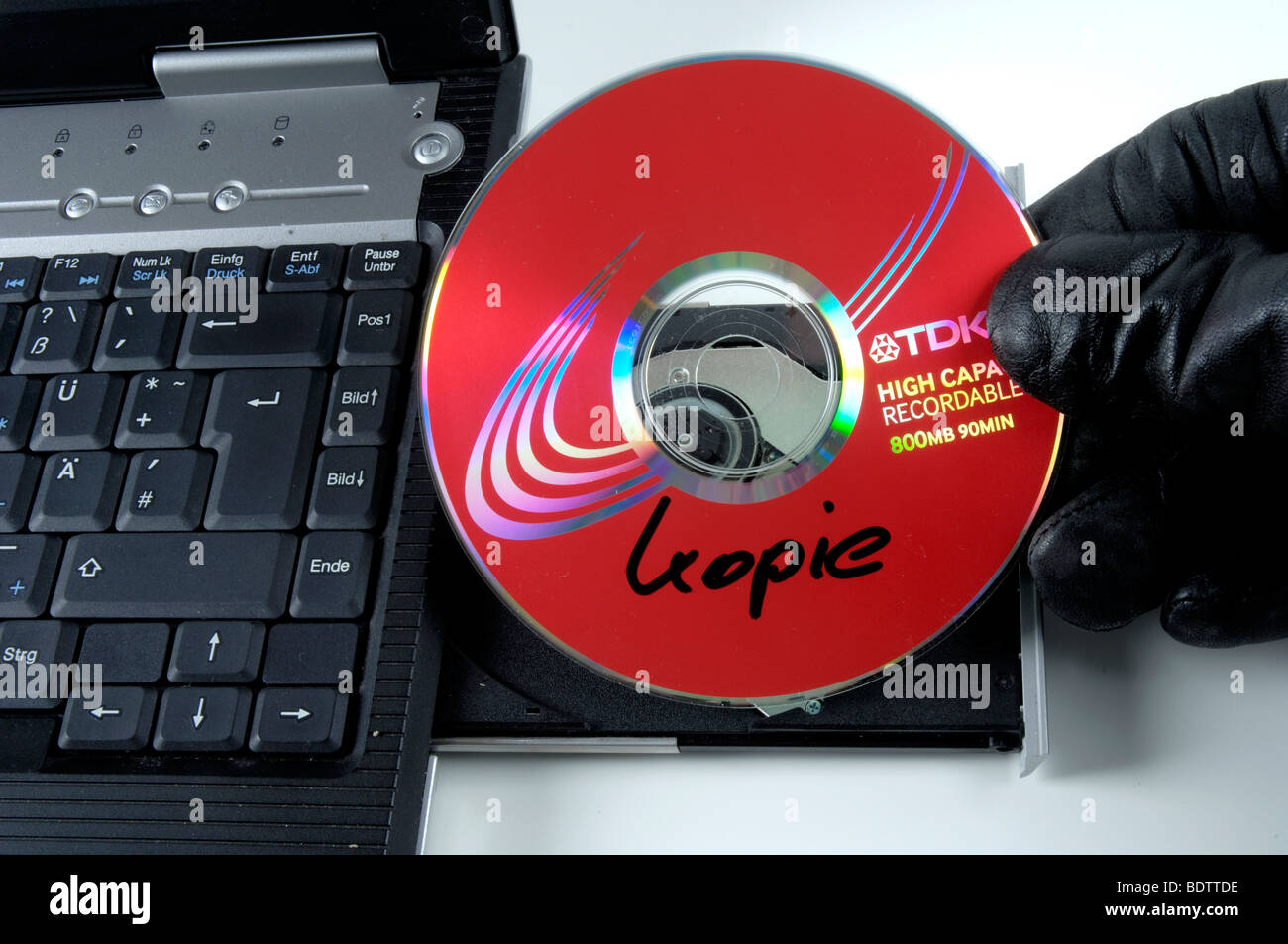 piracy copied CD - Stock Image