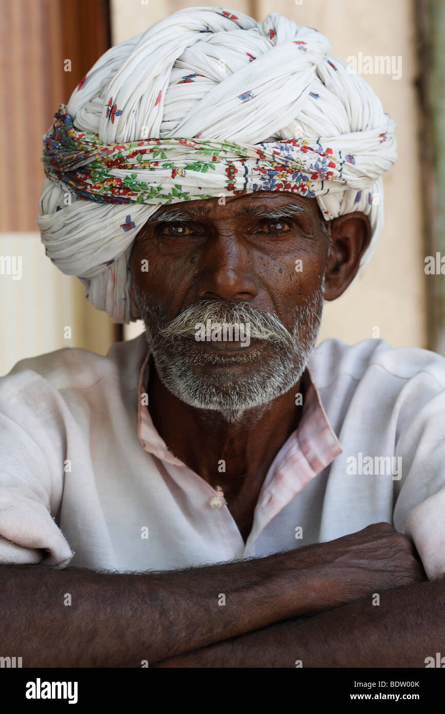 rajasthanis in rajasthan, indien, india - Stock Image