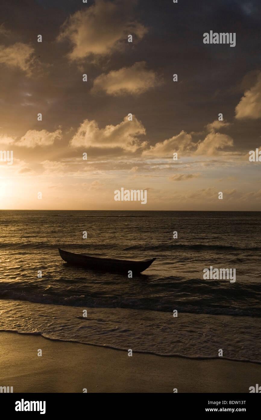 Abendstimmung am Strand von Nosy Nato, Madagaskar, Afrika, beach von Nosy, Madagascar, Africa - Stock Image