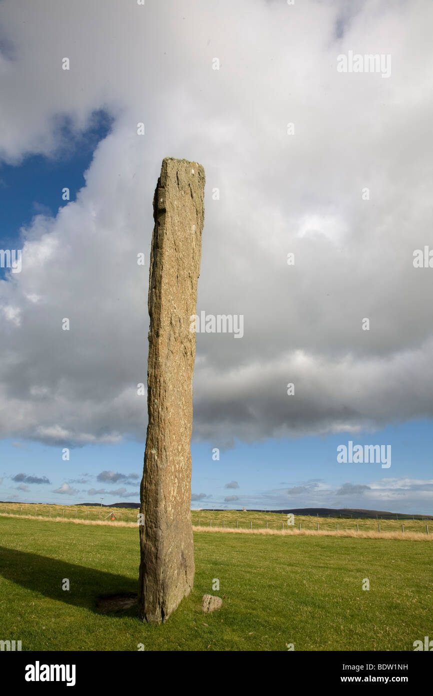 standing stones of stenness, neolithic heart of orkney, orkney islands, scotland Stock Photo