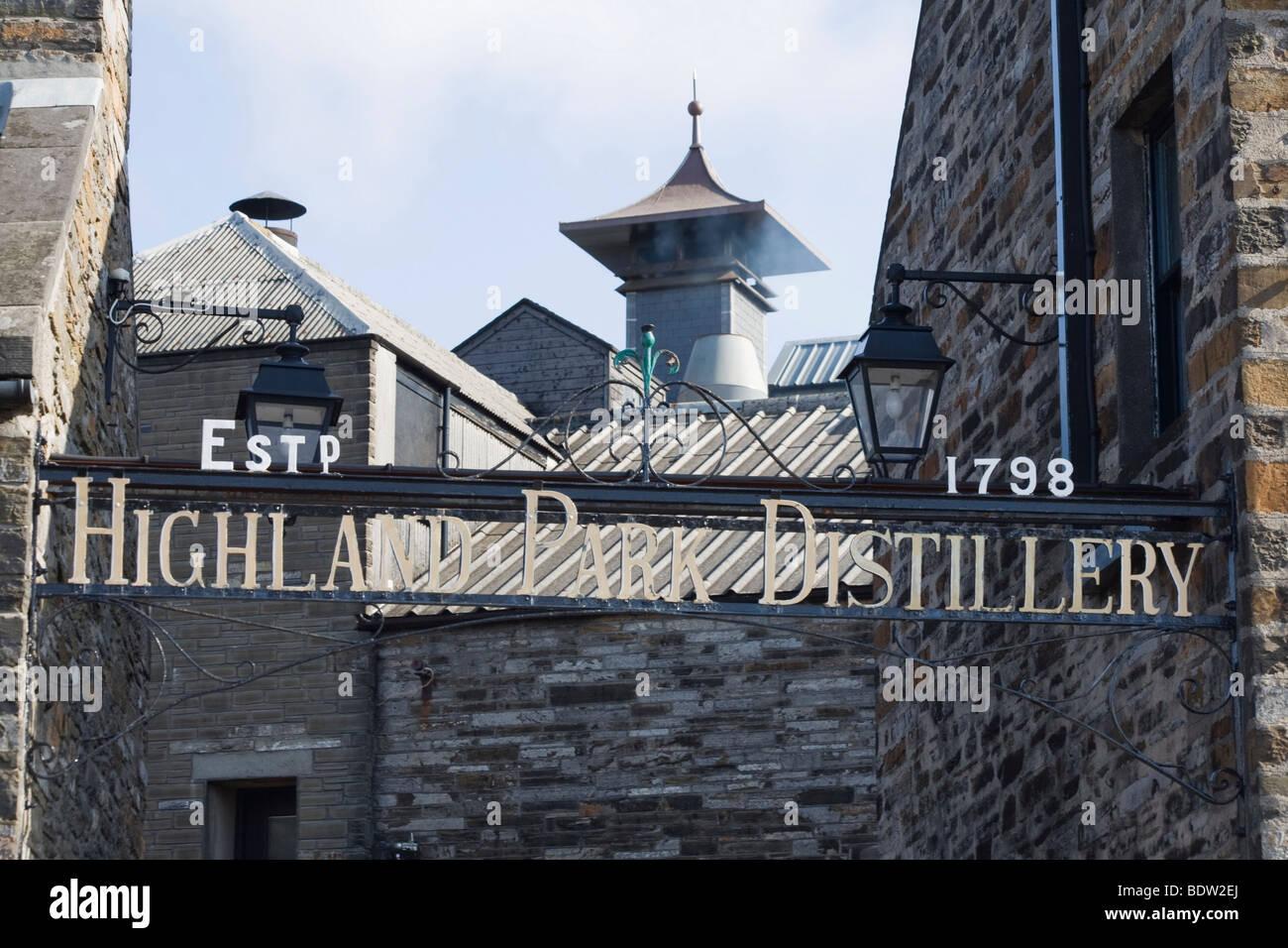 Eingang, entrance, highland park distillery in kirkwall, orkney islands, scotland - Stock Image