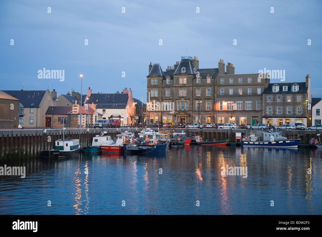 hafen von kirkwall, harbor of kirkwall, orkney islands, scotland - Stock Image