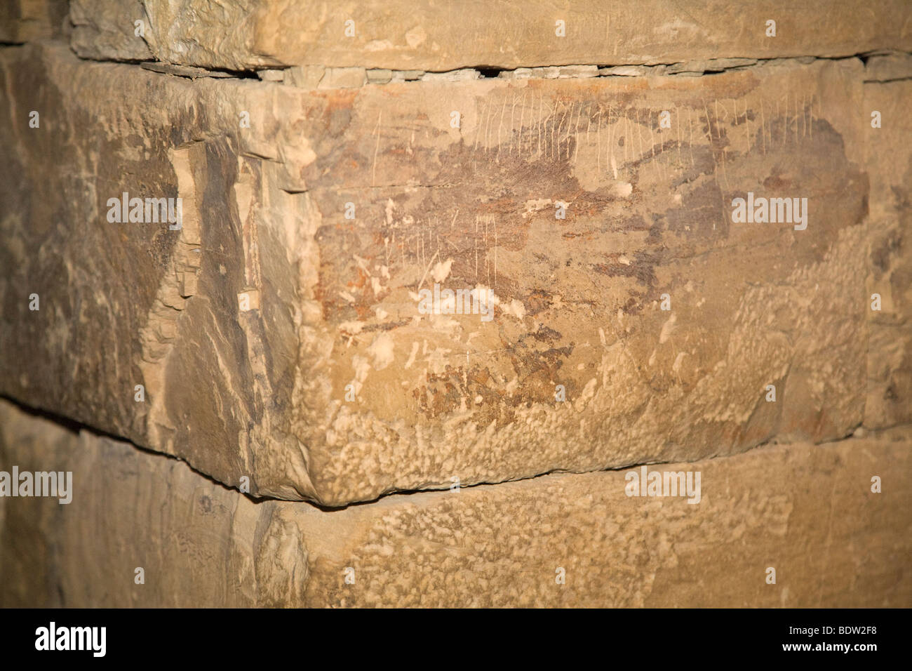runic writing of the vikings in maeshowe, world cultural heritage, orkney islands, scotland, schottland - Stock Image