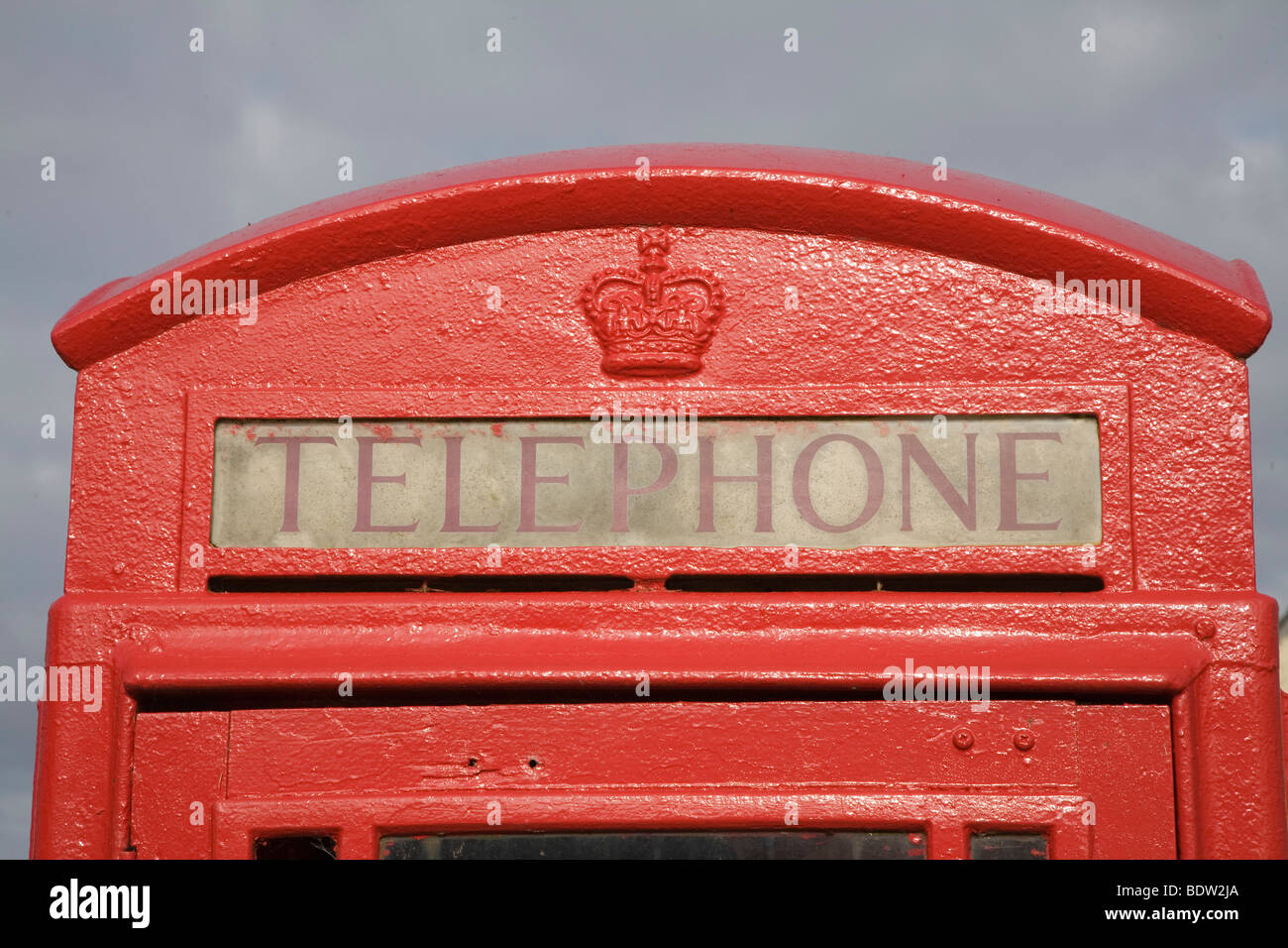 rote traditionelle telefonzelle, red phone box, orkney islands, scotland - Stock Image