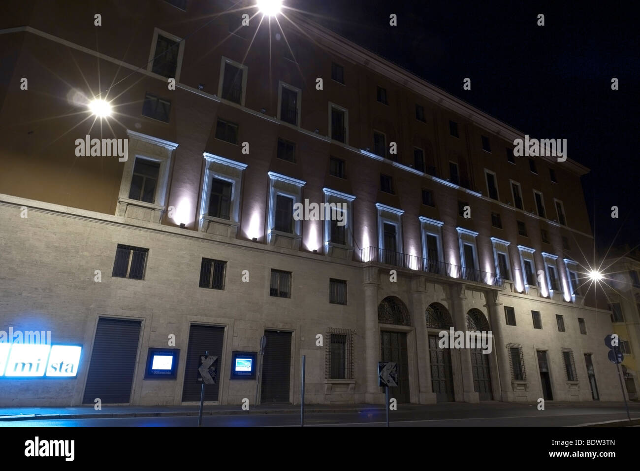 """Rome, Italy. The so called """"Bottegone"""", seat of the Italian Communist Party for decades. Stock Photo"""