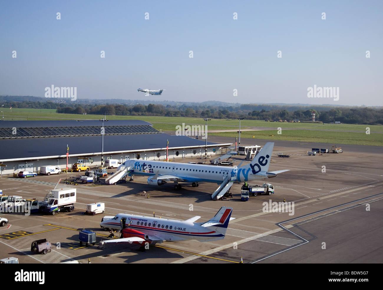 Eastleigh Airport Southampton England - Stock Image