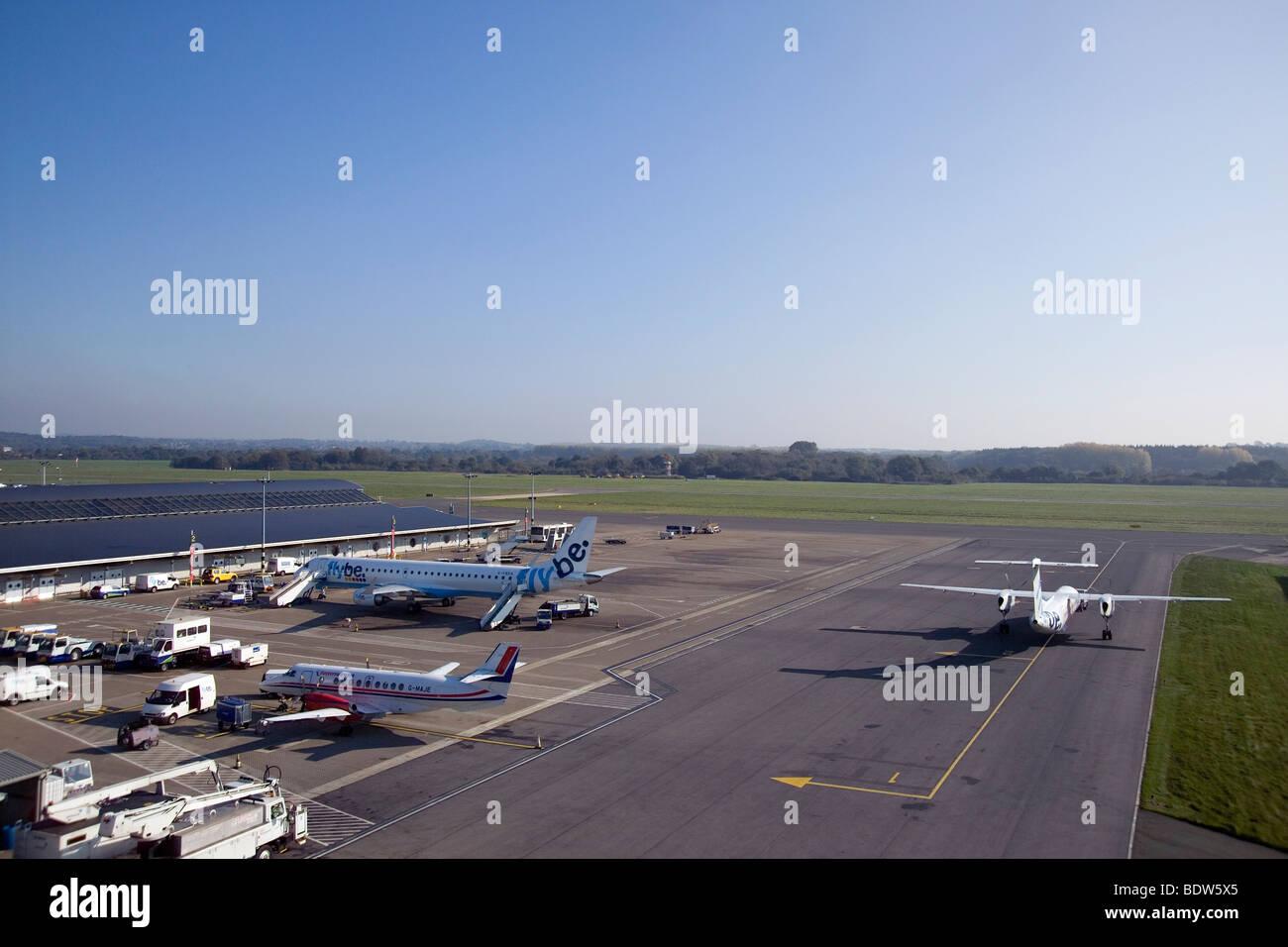 Eastleigh Airport Southampton England Stock Photo
