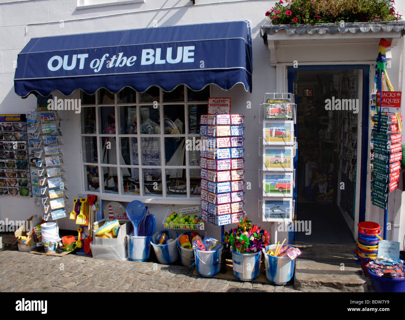 Out of the Blue Shop Quay Street Lymington Hampshire - Stock Image