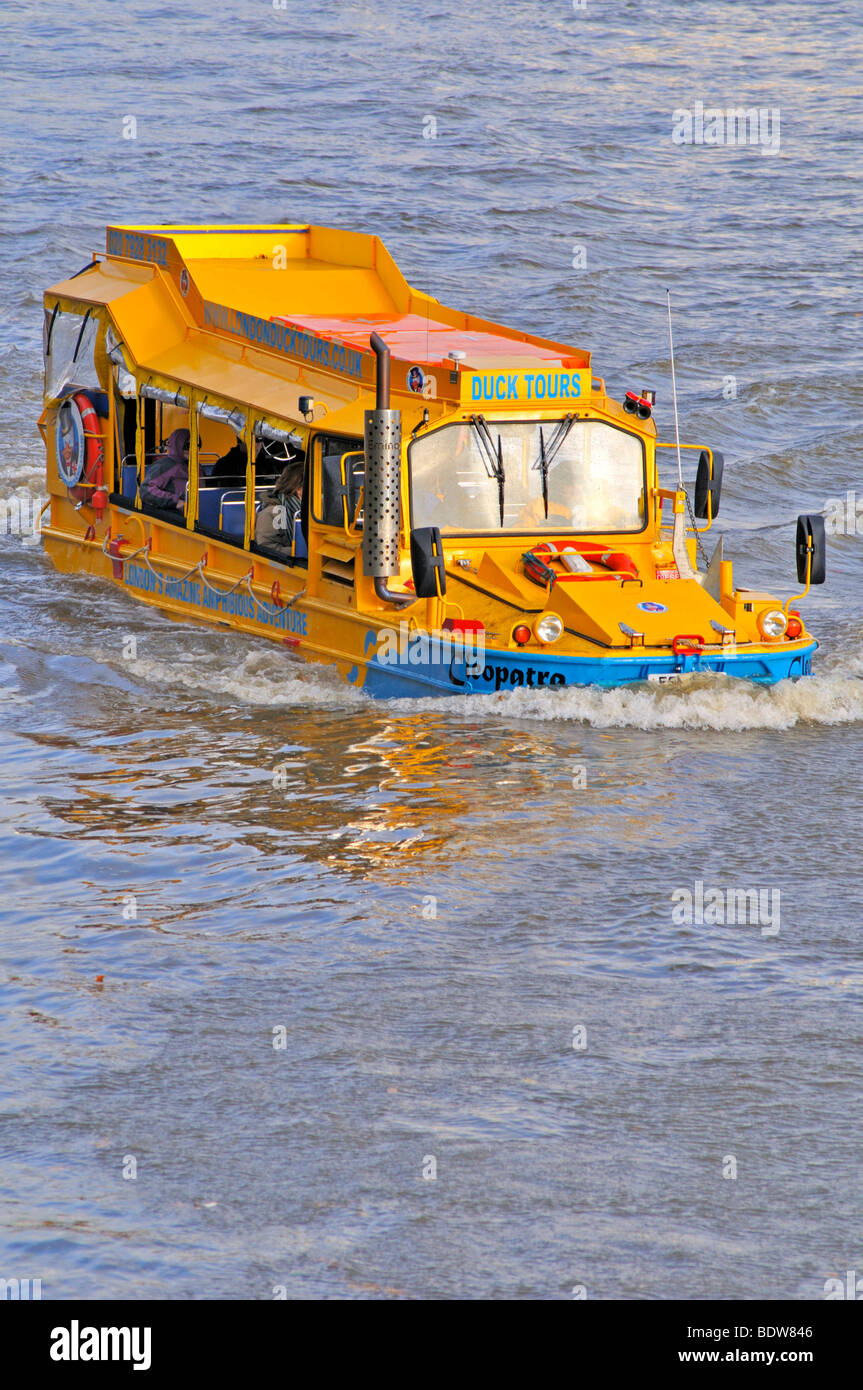 Amphibious sightseeing tour (duck tours), London, United Kingdom - Stock Image